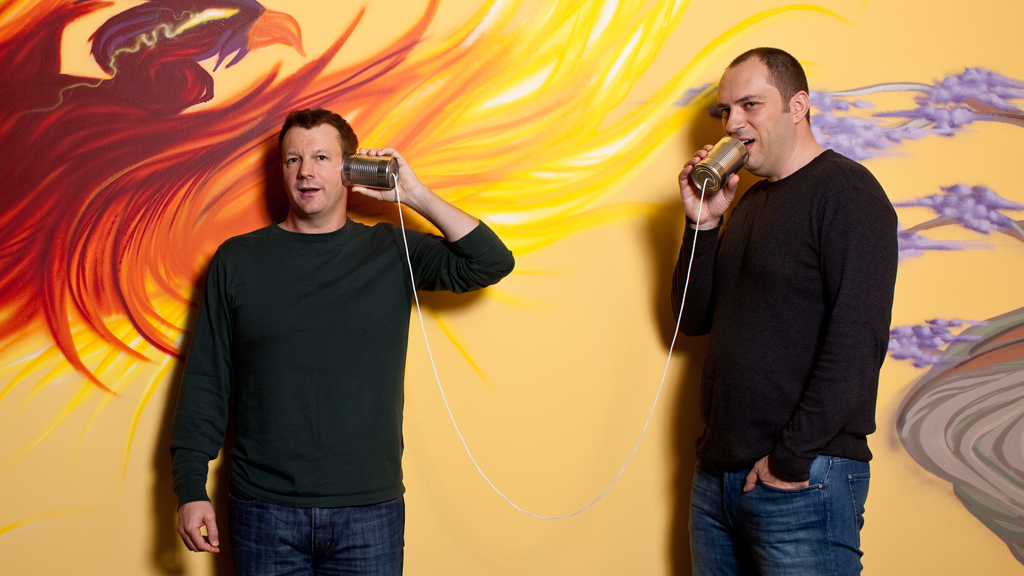 Jan Koum and Brian Acton - the founder of WhatsApp