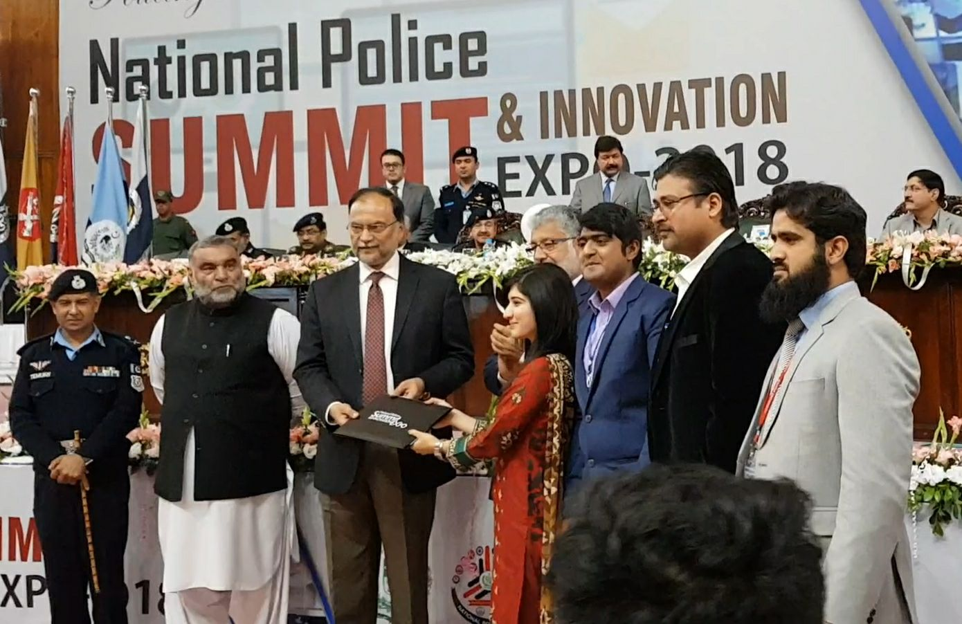 Bahria University's Startup won First Prize in National Police Summit and Innovation Expo 2018