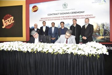 Jazz awarded contract for providing Mobile Broadband coverage in North Waziristan